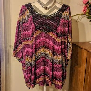 Colorful Plus Size Top